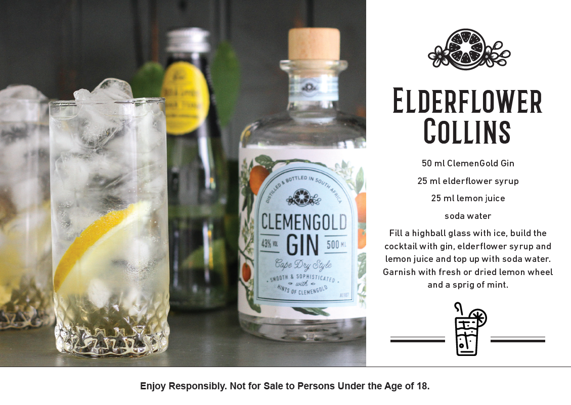 clemengold-elderflower collins